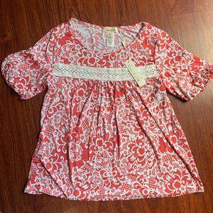 New Women's Floral blouse size M